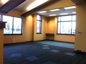 A Room with Wide Windows at the New Library